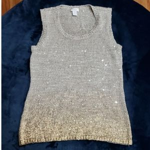 Chico's Gold Ombre Knit Tank Size 0 (Small)